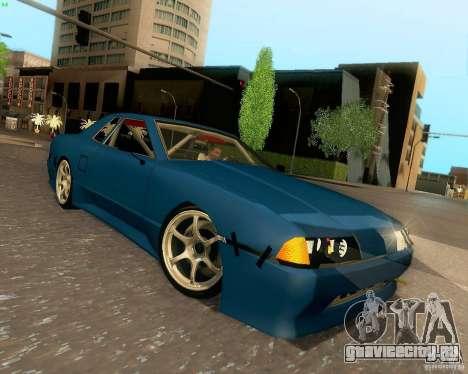 Elegy Drift Korch для GTA San Andreas вид изнутри