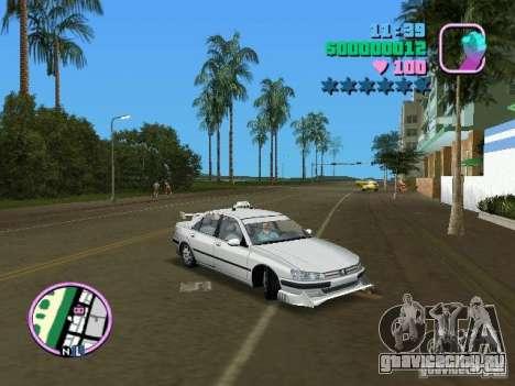 Peugeot 406 Taxi для GTA Vice City вид справа