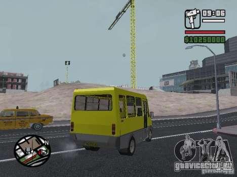 БАЗ 2215 ДЕЛЬФИН для GTA San Andreas вид сзади