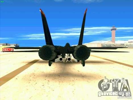 F-14 Tomcat Razgriz для GTA San Andreas вид сзади слева