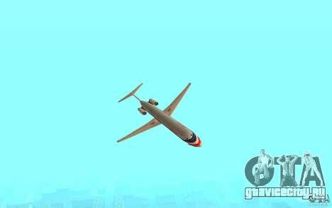 McDonnell Doeuglas MD-80 для GTA San Andreas вид сзади слева