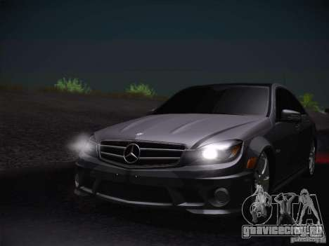 Mercedes-Benz С63 AMG для GTA San Andreas вид сзади