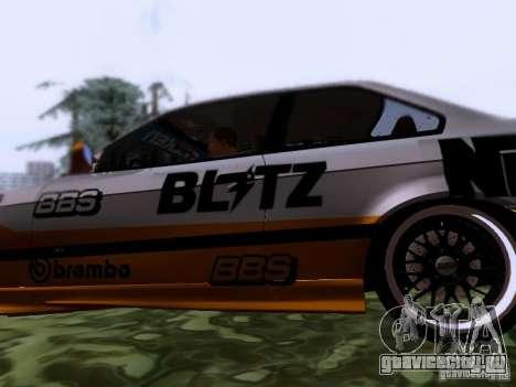 BMW E36 Drift для GTA San Andreas вид слева