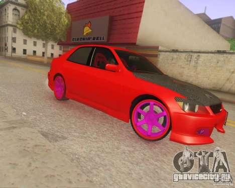 Toyota Altezza Drift Style v4.0 Final для GTA San Andreas вид слева