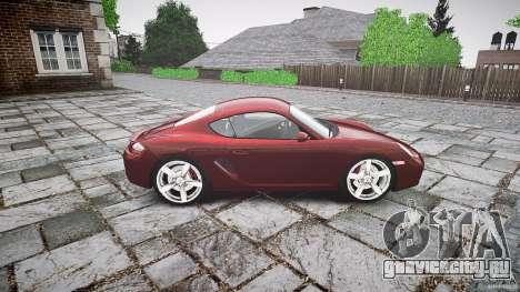 Porsche Cayman S v1 для GTA 4 вид изнутри