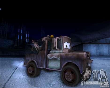 Car Mater для GTA San Andreas вид справа