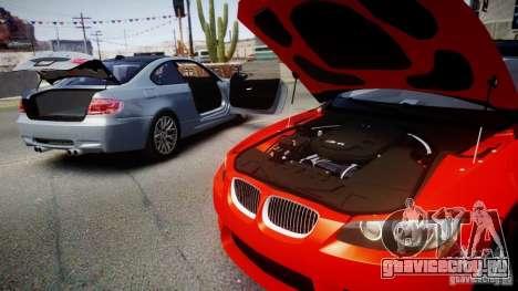 BMW M3 E92 ZCP 2012 для GTA 4 вид сзади слева
