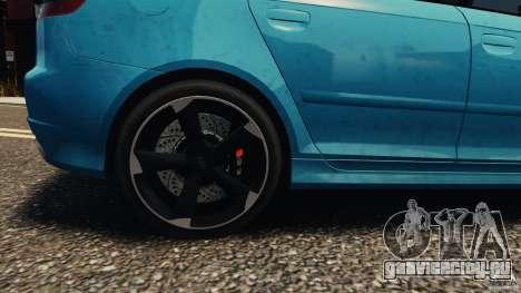Audi RS3 Sportback V1.0 для GTA 4 вид сзади