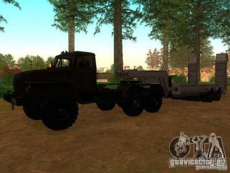 Урал 4420 седельный тягач для GTA San Andreas вид слева