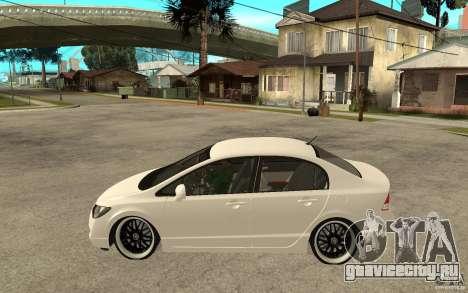 Honda Civic FD для GTA San Andreas вид слева