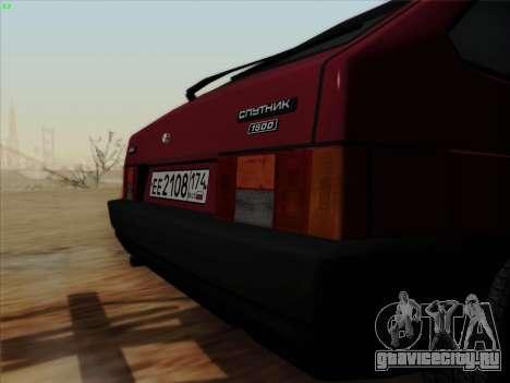 ВАЗ 21083i для GTA San Andreas вид сзади