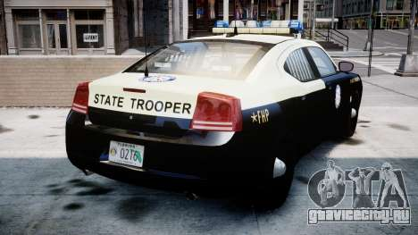 Dodge Charger Florida Highway Patrol [ELS] для GTA 4 вид сзади слева