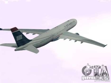 Airbus A330-300 US Airways для GTA San Andreas вид слева