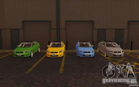 Scion tC для GTA San Andreas вид снизу