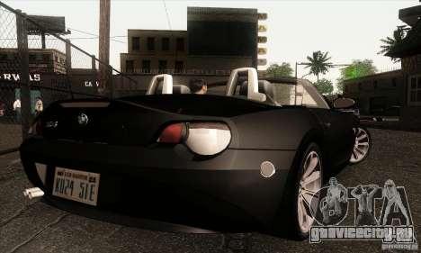 BMW Z4 для GTA San Andreas вид сзади слева