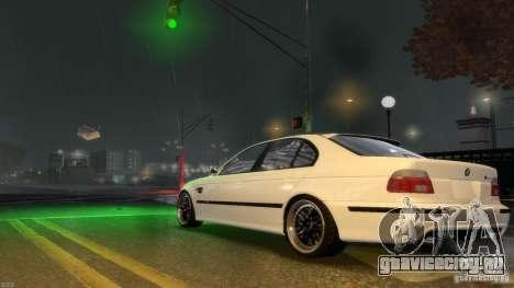 BMW M5 E39 BBC v1.0 для GTA 4 вид изнутри