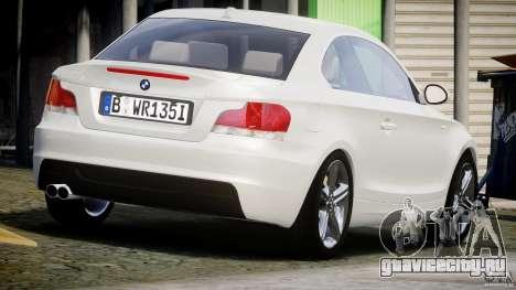 BMW 135i Coupe 2009 [Final] для GTA 4 вид сбоку