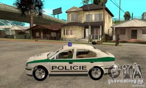 Skoda Octavia Police CZ для GTA San Andreas вид слева