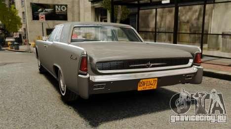 Lincoln Continental 1962 для GTA 4 вид сзади слева