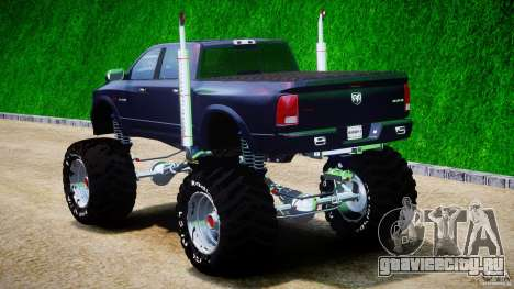 Dodge Ram 3500 2010 Monster Bigfut для GTA 4 вид сзади слева