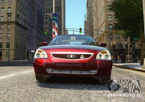 ВАЗ 2170 Lada Priora для GTA 4 вид справа