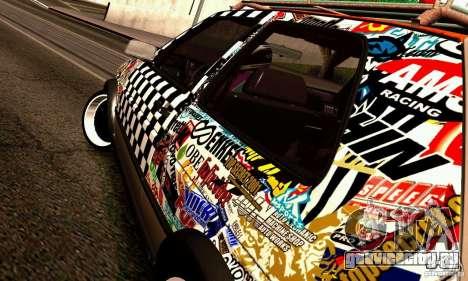 Volkswagen MK II GTI Rat Style Edition для GTA San Andreas вид сбоку