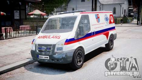 Ford Transit Polish Ambulance [ELS] для GTA 4