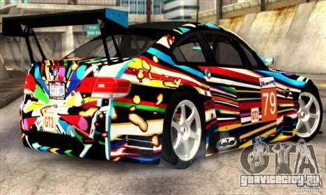 BMW M3 GT2 для GTA San Andreas вид сзади слева