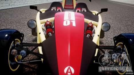Ariel Atom 3 V8 2012 Custom Mugen для GTA 4 вид сверху