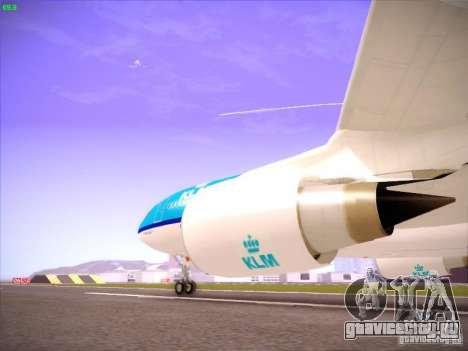 Airbus A330-200 KLM Royal Dutch Airlines для GTA San Andreas вид изнутри