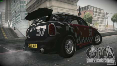 Mini Countryman WRC для GTA San Andreas вид справа
