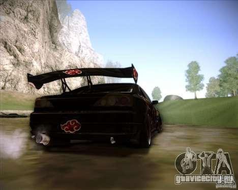 Nissan Silvia S15 with AKATSUKI paintjob для GTA San Andreas вид слева
