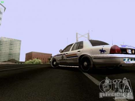 Ford Crown Victoria Canadian Mounted Police для GTA San Andreas вид слева