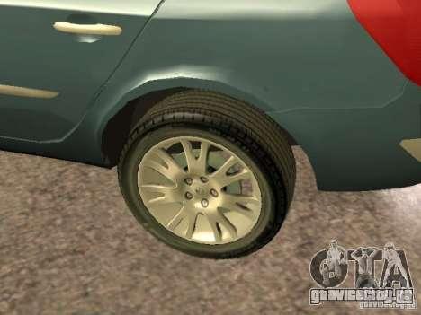 Renault Laguna II для GTA San Andreas вид изнутри