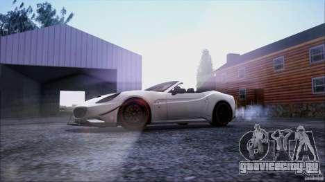 Ferrari California для GTA San Andreas вид снизу