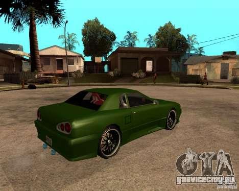 Elegy Green Line для GTA San Andreas вид сзади слева