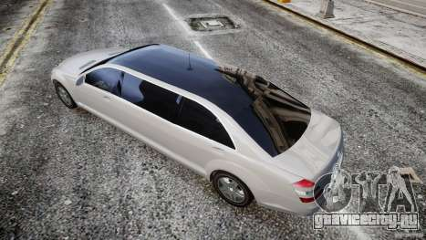 Mercedes-Benz S600 Guard Pullman 2008 для GTA 4 вид сзади слева