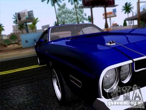 Dodge Challenger HEMI для GTA San Andreas вид сзади слева