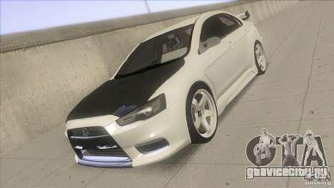 Mitsubishi Lancer Evo IX DIM для GTA San Andreas вид сзади