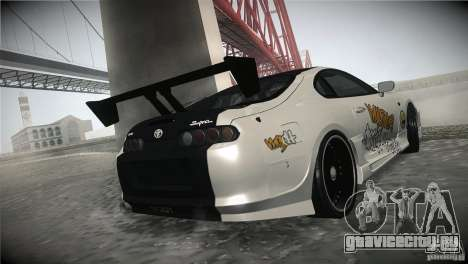 Toyota Supra MyGame Drift Team для GTA San Andreas вид изнутри