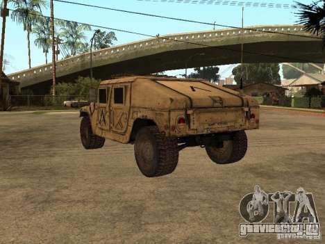 War Hummer H1 для GTA San Andreas вид сзади слева