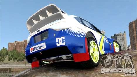 Subaru Impreza WRX STI Rallycross BFGoodric для GTA 4 вид изнутри