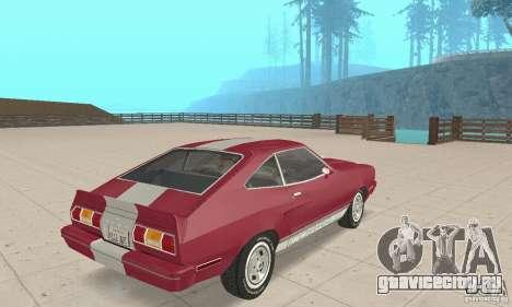 Ford Mustang II 1976 Cobra v. 1.01 для GTA San Andreas вид слева