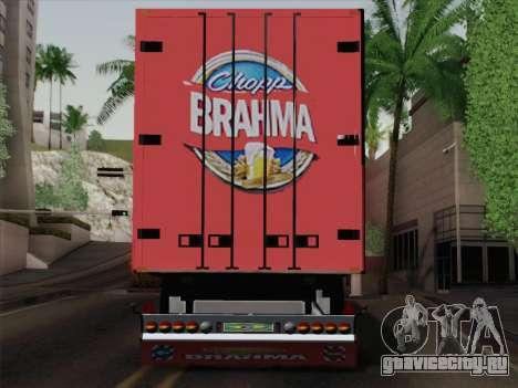 Прицеп для Scania R620 Brahma для GTA San Andreas вид сзади