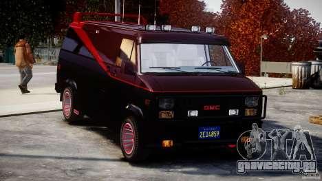 GMC Van G-15 1983 The A-Team для GTA 4 вид сверху