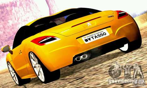 Peugeot Rcz 2011 для GTA San Andreas вид слева