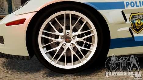Chevrolet Corvette ZR1 Police для GTA 4 вид сбоку