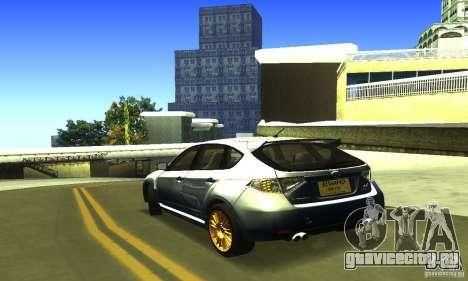Subaru Impresa WRX STI 2008 для GTA San Andreas вид слева