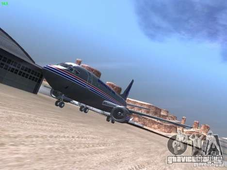 Boeing 737-500 для GTA San Andreas вид сверху