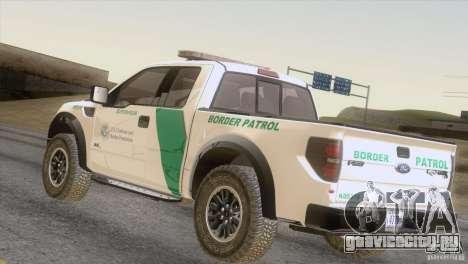 Ford Raptor для GTA San Andreas вид сзади слева